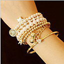 Buy MISSING U Alloy / Imitation Pearl Bracelet Cuff Bracelets Strand Daily Casual 1set Jewelry Christmas Gifts