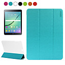 ENKAY Toothpick Texture PU Leather and Translucent Scrub Plastic Protective Case for Samsung Galaxy Tab S2 9.7 T815
