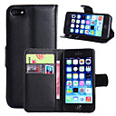 PU Leather Flip Capa Case For Apple iPhone 5/5S Wallet  Holder Cover Full Protect Cell Phone Bag  (Assorted Colors)