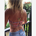 Buy Women's Body Jewelry Belly Chain Harness Necklace Gemstone Alloy Unique Design Fashion Sexy Bikini Crossover Golden