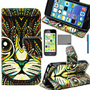 Buy LEXY® Green Cat Tribal Pattern PU Full Body Leather Case Screen Protector Stylus iPhone 5C