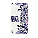 Elephant Pattern PU Leather Case with Stand for Samsung Galaxy S3 Mini I8190/S4 MINI I9190/S5 Mini