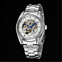 Buy Men's Business Leisure Full Automatic Round Dial Stainless Steel Band Machine Analog Hollow Wrist Watch(Assorted Color) Cool Watch Unique