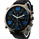 Men's Watch Japanese Quartz Military Silicone Strap Cool Watch Unique Watch