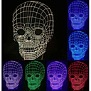Visual 3D Skull Model Mood Atmosphere LED Decoration USB Battery Table Lamp Colorful Gift Night Light