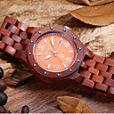 BEWELL®Natural Handmade Sandal Wooden Watches Men Luxury Analog Quartz Fashion Casual Antiques Watch Male Cool Watch Unique Watch