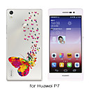 MAYCARI®The Valid of Butterflies Soft Transparent TPU Back Case for Huawei P7/P8