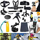 17pcs In 1 Accesorios GoPro Montura / Estuche de Protección / Monópodo / Trípode / Tirantes / Tornillo / Boya / succión / Accesorios Kit