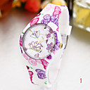 Buy Woman's Watches Fashion Garden Style Silicone Watch Cool Unique