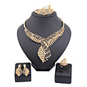 Buy fashion trendy gold plated (necklace,bracelet,ring,earrings)jewelry sets