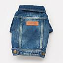 Dog Coats / T-Shirt - S / M / L / XL / XXL - Spring/Fall - Blue - Cowboy - Cotton