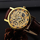 Fashion Style Hollow Shape Alloy Leather Watch For Men's(Four Colors)(1Pc) Cool Watch Unique Watch