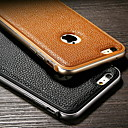 Luxury Lychee Pattern Genuine Leather Case for iPhone 6 4.7 Metal TPU Integrated Frame Case for Apple iPhone 6