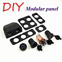 DIY Module Panel Splitter Car Power Adapter Cigarette Lighter Socket, Voltmeter,5V 2.1A USB Car Charger