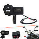 Buy 12V-24V Waterproof Motorcycle Car Dual USB Charger LED Digital Voltmeter Handbar Mount