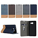 Luxury Flip Canvas Leather Case With Wallet Card Slot Holder For Samsung Galaxy (2016) A3/A5/A7 A710 A7100