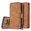 Genuine Leather Cover Multi-functional Cards Holder Wallet Case For Samsung Galaxy S7/S7 edge/S6 edge+