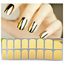 Buy 1sheet Adhesive Nail Art Stickers Gold Silver Black Patch,Full Cover Foil Wraps,DIY Beauty Decals Tools