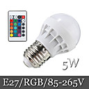 5W E26/E27 Lampadine globo LED Modifica per attacco al soffitto 6LED SMD 5050 500 lm Colori primari Controllo a distanza / DecorativoAC