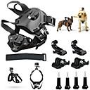 Pet Dog Harness Chest Shoulder Strap Belt Mount for GoPro Hero+ Camera - Black