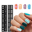 Buy 2016 New Reusable Stamping Tool DIY Nail Art Hollow Template Stickers Stencil Guide 24 Styles Options