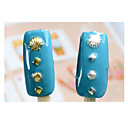 Buy 3d Gold Silver Metal Nail Art,10 3mm 5mm Stylish Shell Designed Studs