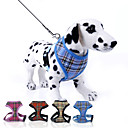 Buy Dog Harness / Leash Adjustable/Retractable Plaid/Check Red Blue Yellow Rose Nylon