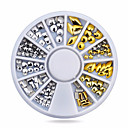 Buy 1wheel Gold Silver Studs 3d Metal Nail Art Decorations