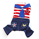 Pants / Jumpsuit for Dogs / Cats Red / Blue Summer / Spring/Fall Fashion S / M / L / XL / XXL Cotton-Lovoyager