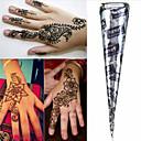 Black * cones henna herbal tatuagem temporária hina arte corporal kit mehandi tinta