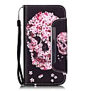 Buy Skeleton Head Pattern PU Leahter Full Body Cover Stand Card Slot Samsung Galaxy S4 S5 S6 S6edge S7 S7edge