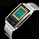 Unisex Fashion LCD Screen Digital Stainless Steel Sports Watch Cool Watch Unique Watch