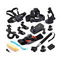 Defery 12-in-1 outdoor sportbenodigdheden kit voor GoPro Hero 4, 3+, 3 en 2, in zilver en zwart