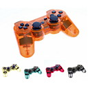 PS3用透明ワイヤレスBluetooth SIXAXIS DUALSHOCK3充電式コントローラージョイパッド