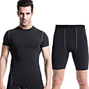 Buy Running Clothing Sets/Suits Men's Quick Dry / Sweat-wicking Sports Wear White Green Red Gray Black BlueS M L