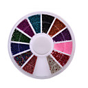 Buy Top Nail 12 Color Steels Beads Studs Nails Metal Caviar Design Wheel Charms 3D Decorations Art Supplies