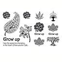 Buy Fashion Leaf Body Art Waterproof Temporary Tattoos Sexy Tattoo Stickers (Size: 3.74'' 5.71'')