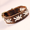 Buy Fashion Mens Cool Punk Style Braided Handmade Brown Bracelets Jewelry Party