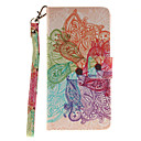 Buy Painted Colorful Flowers Pattern Card Can Lanyard PU Phone Case Huawei P9 Lite P8
