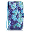 Buy Blue Begonia Painted PU Leather Material Card Holder Phone Case iPhone 7 7plus 6S 6plus SE 5S