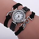 Buy Women's Unisex Fashion Watch Wrist watch Bracelet Quartz Colorful Imitation Diamond PU Band Vintage Sparkle Bohemian CasualBlack