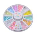 Buy 12colors Mix Sizes Pearl Nail Art Tips Decoration Wheel Glitter Rhinestone Tools