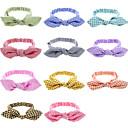 Buy 11 colors/set Best Deal 2016 Lovely Baby Headband Fashion Bunny Ear Girl Headwear Bow Elastic Knot Headbands