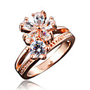 Buy Ring AAA Cubic Zirconia Gold Plated 18K gold White Red Blue Jewelry Wedding Party Daily Casual 1pc