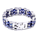 Buy Kalen Cool Men Biker Bicycle Motorcycle Chain Male Bracelet & Bangle Fashion Black Blue Red Tri-Color 316L Stainless Steel Bike Jewelry