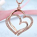 Buy Pendant Necklaces Jewelry Heart 18K gold Alloy Love European Costume Fashion Daily Casual