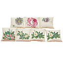 Buy Set 7 Pastoral style pattern Linen Cushion Cover Home Office Sofa Square Pillow Case Decorative Covers Pillowcases