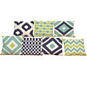 Buy Set 7 Simple geometric pattern Linen Cushion Cover Home Office Sofa Square Pillow Case Decorative Covers Pillowcases