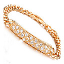 Buy Bracelet Chain Zircon Copper Gold Plated Others Fashion Party Birthday Gift Christmas Gifts Jewelry Gold,1pc