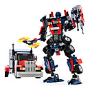 Buy Toys Gift Building Blocks Model & Toy Warrior Robot Plastic 5 7 Years 8 13 14 Black Blue